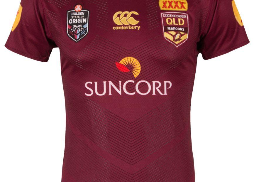 Camisa Queensland Maroons Canterbury Estado de origen 2016